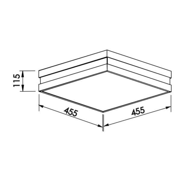 Desenho técnico plafon 11791 Newline