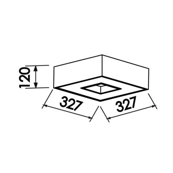 Desenho técnico plafon 170 Newline