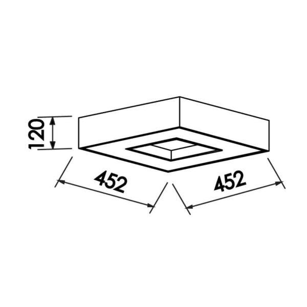 Desenho técnico plafon 171 Newline