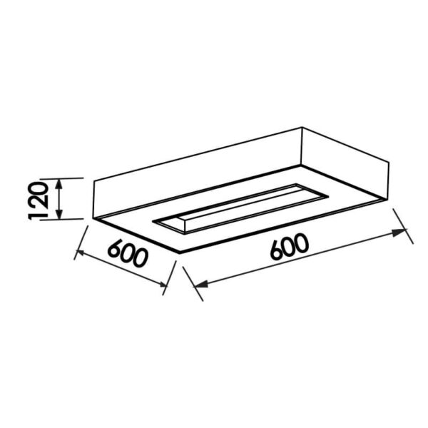 Desenho técnico plafon 175 Newline