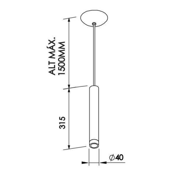 Desenho técnico pendente Lisse 420 Newline