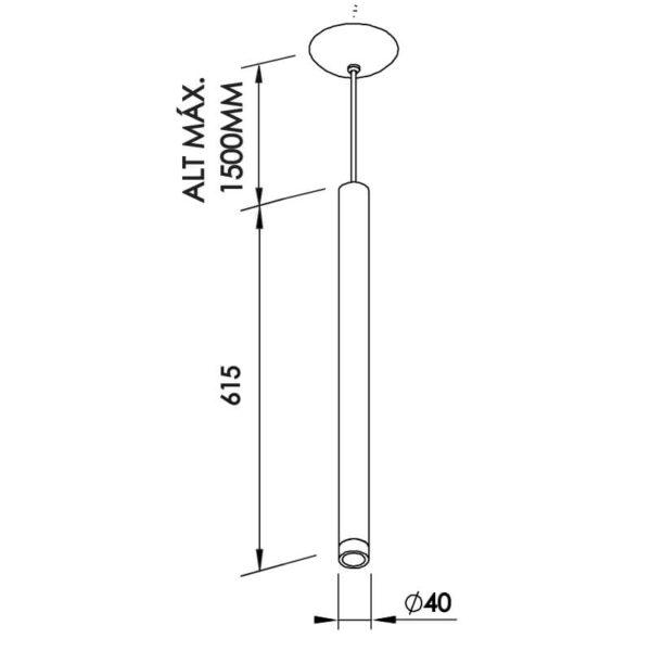 Desenho técnico pendente Lisse 425 Newline