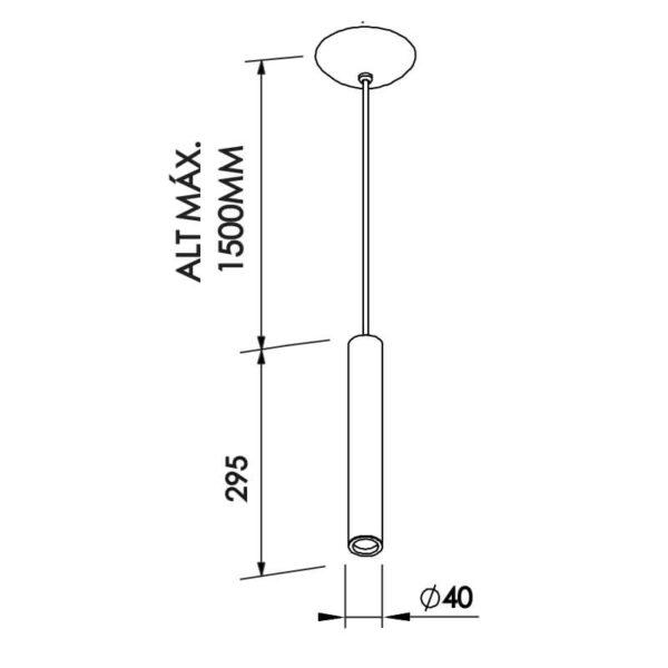 Desenho técnico pendente Lisse 430 Newline