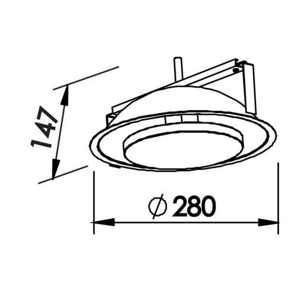 Desenho técnico embutido 440LED Newline