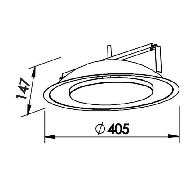 Desenho técnico embutido 441LED Newline