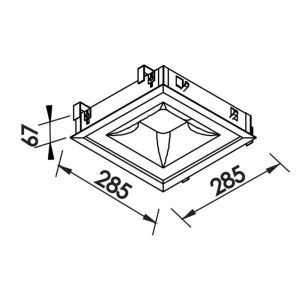 Desenho técnico embutido 470LED Newline