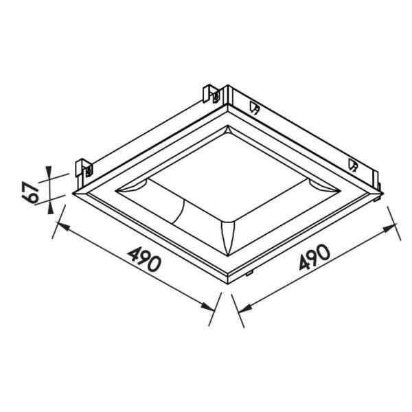 Desenho técnico embutido 472LED Newline