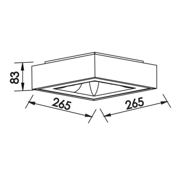 Desenho técnico plafon 480LED Newline
