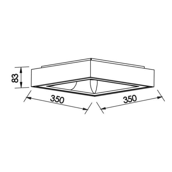 Desenho técnico plafon 481LED Newline