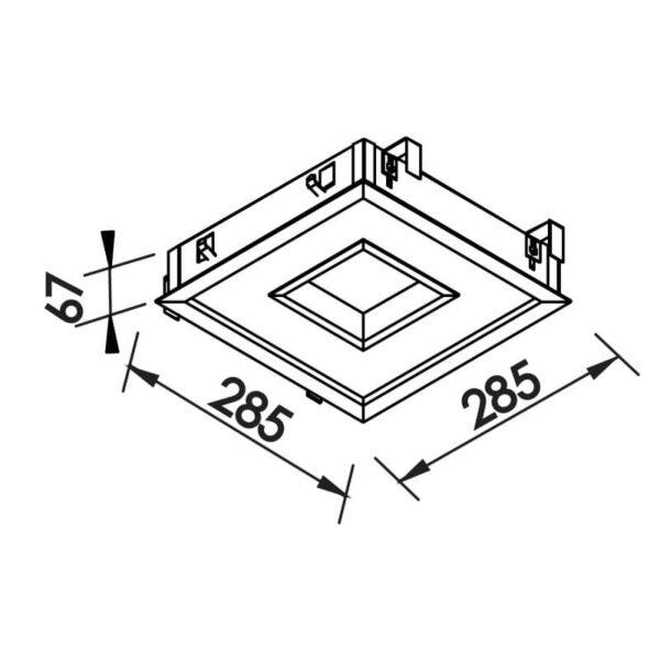 Desenho técnico embutido 500LED Newline