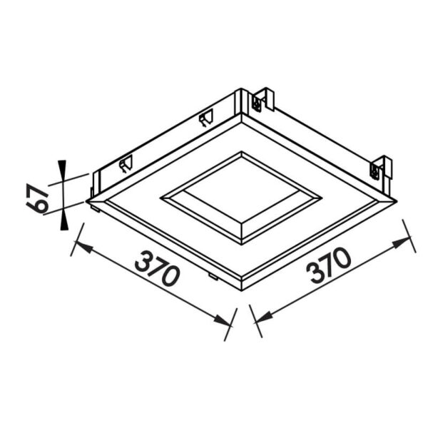Desenho técnico embutido 501LED Newline