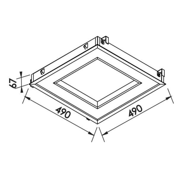 Desenho técnico embutido 502LED Newline