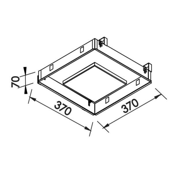 Desenho técnico embutido 540LED Newline