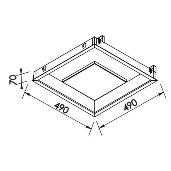 Desenho técnico embutido 541LED Newline