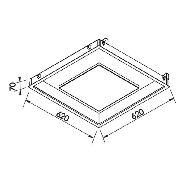 Desenho técnico embutido 542LED Newline