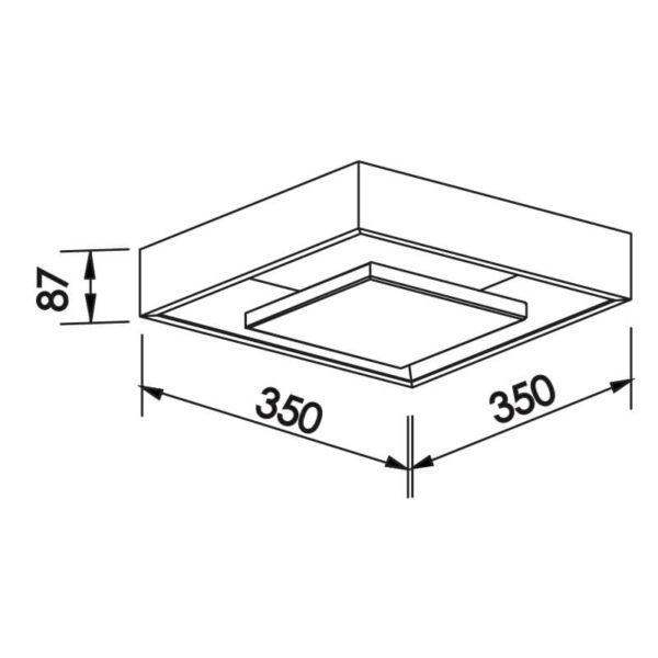 Desenho técnico plafon 545LED Newline