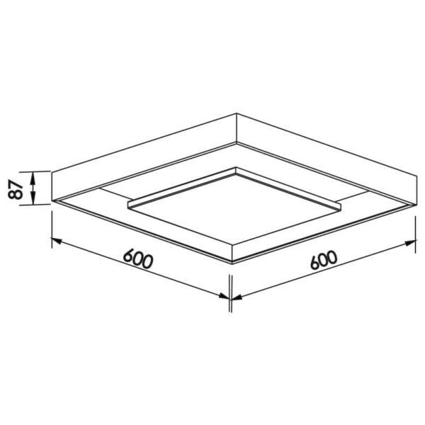 Desenho técnico plafon 547LED Newline