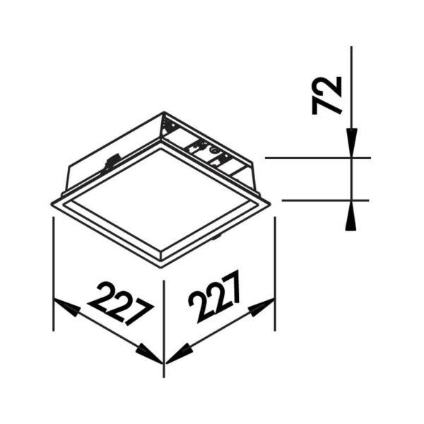 Desenho técnico embutido 590LED Newline