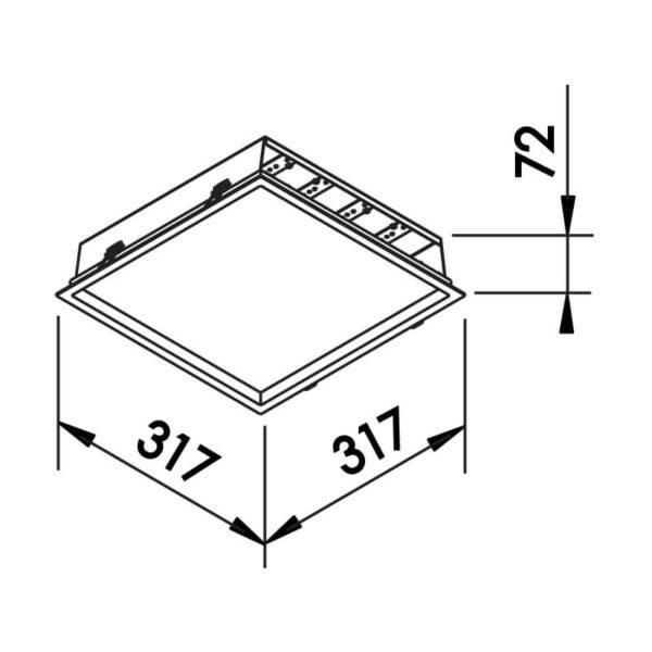 Desenho técnico embutido 591LED Newline