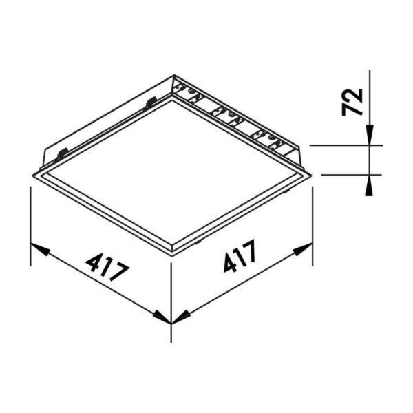 Desenho técnico embutido 592LED Newline