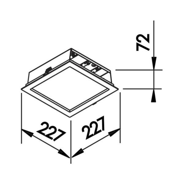 Desenho técnico embutido 600LED Newline