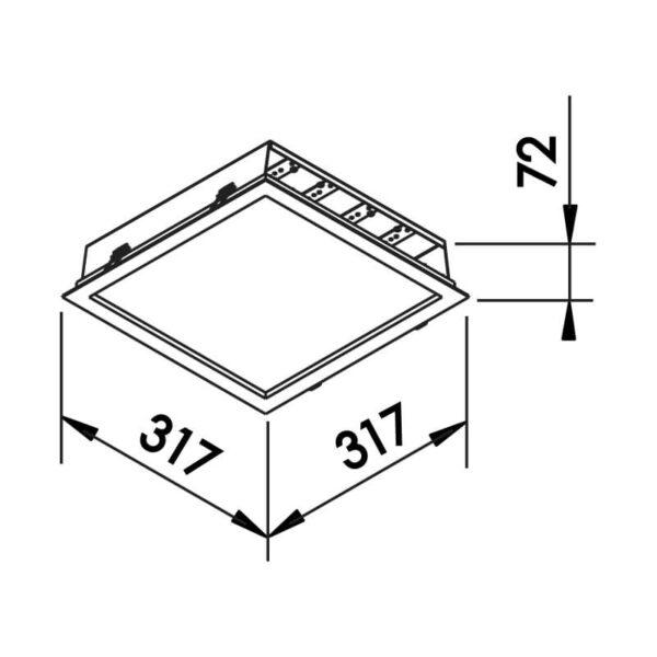 Desenho técnico embutido 601LED Newline