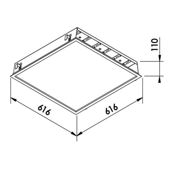 Desenho técnico embutido 603LED Newline