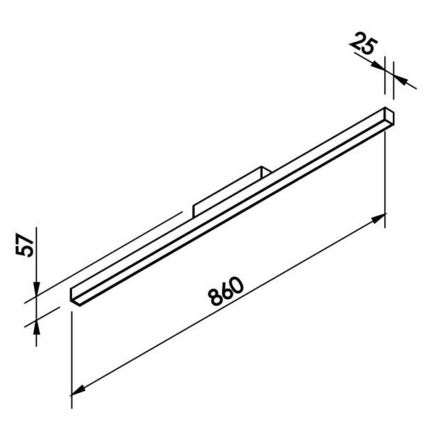Desenho técnico plafon 631LED Newline