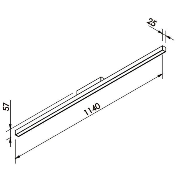 Desenho técnico plafon 632LED Newline