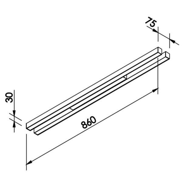 Desenho técnico plafon/arandela 641LED Newline