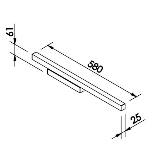 Desenho técnico arandela 655LED Newline