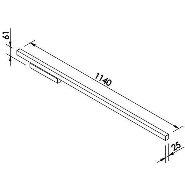 Desenho técnico arandela 657LED Newline