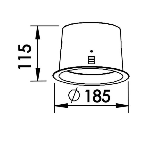 Desenho técnico embutido 9040 Newline
