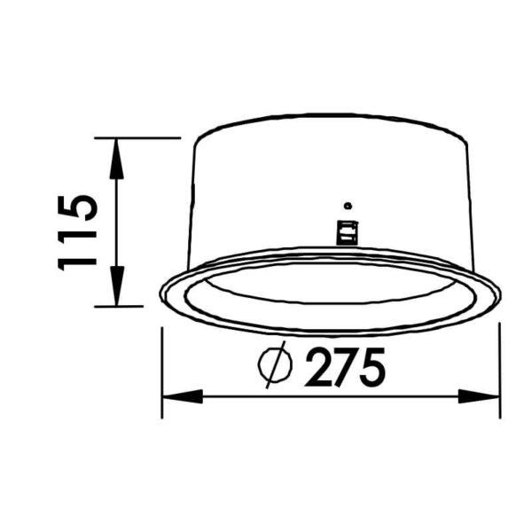 Desenho técnico embutido 9041 Newline