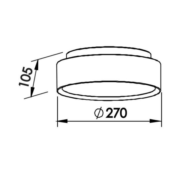 Desenho técnico plafon 9045 Newline
