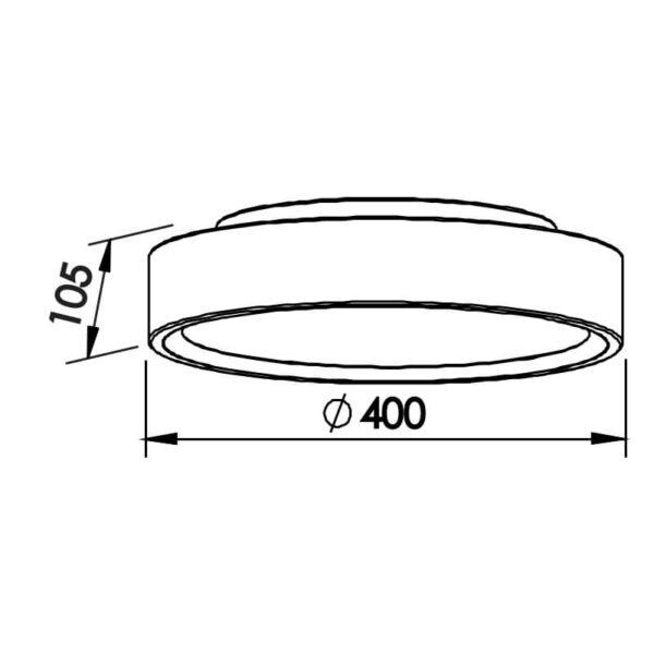 Desenho técnico plafon 9046 Newline