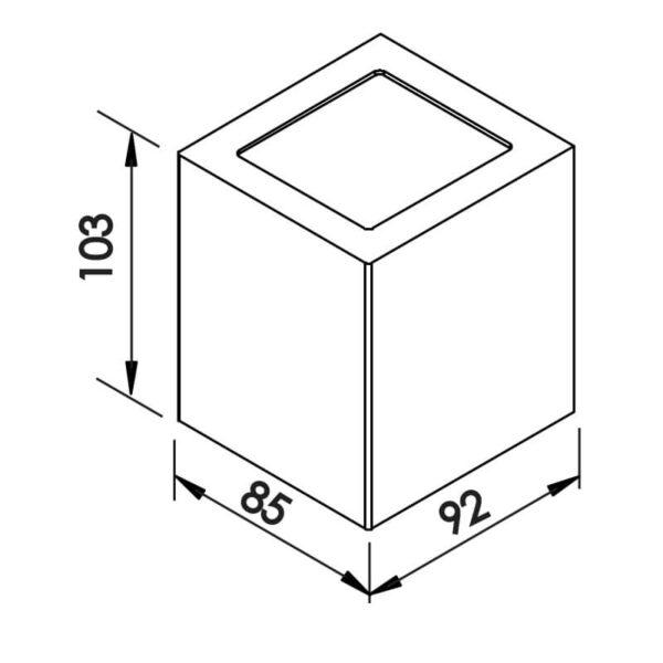 Desenho técnico arandela 9586LED Newline