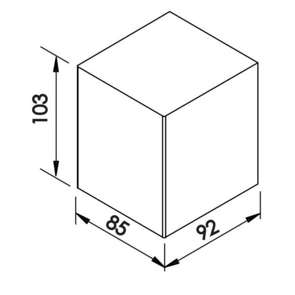 Desenho técnico arandela 9588LED Newline