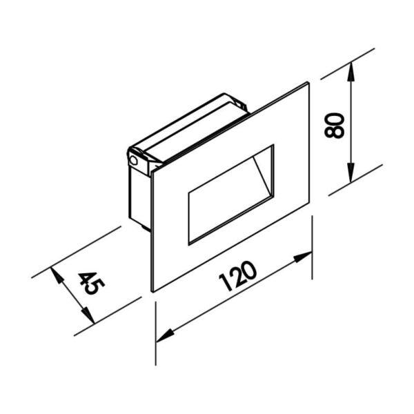 Desenho técnico balizador IN10470LED Newline
