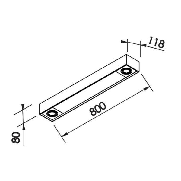 Desenho técnico plafon IN40301 Newline