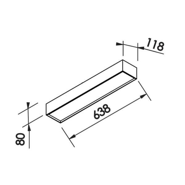 Desenho técnico plafon IN40321 Newline