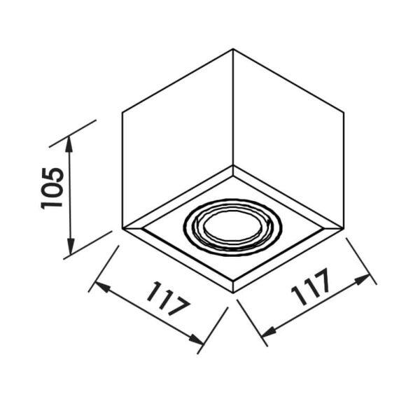 Desenho técnico embutido IN41141 Newline
