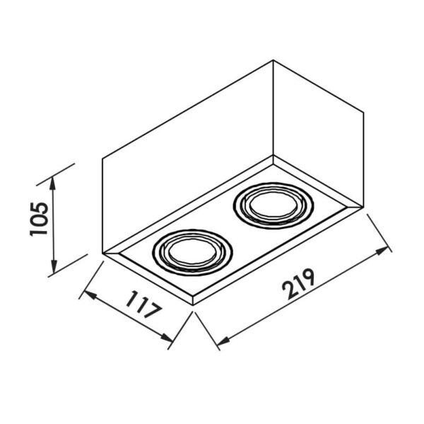 Desenho técnico embutido IN41142 Newline