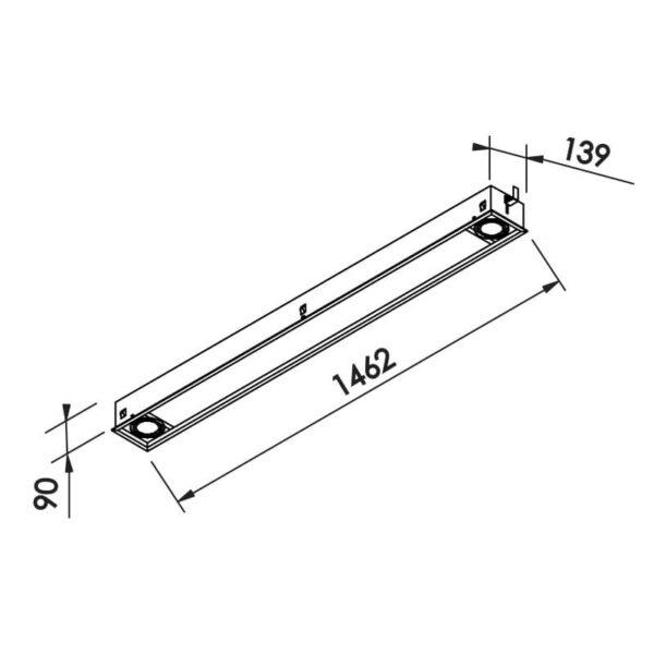 Desenho técnico embutido IN50238 Newline