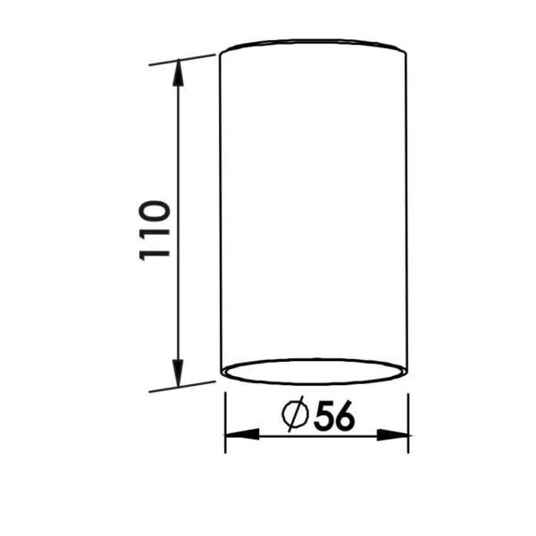 Desenho técnico embutido IN50525 Newline