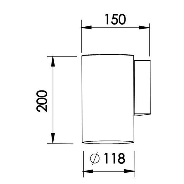 Desenho técnico embutido IN50818 Newline
