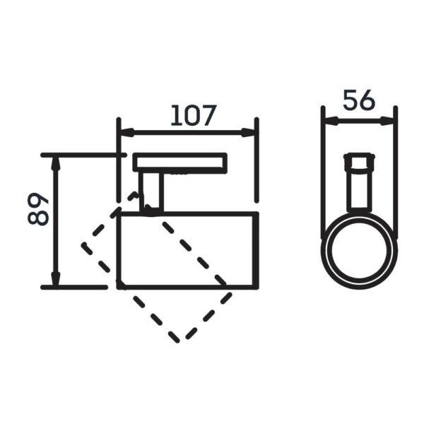 Desenho técnico Spot para trilho IN50925 Newline