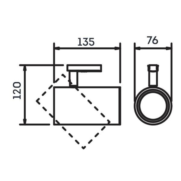 Desenho técnico Spot para trilho IN50935 Newline