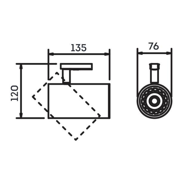 Desenho técnico Spot para trilho IN50945 Newline