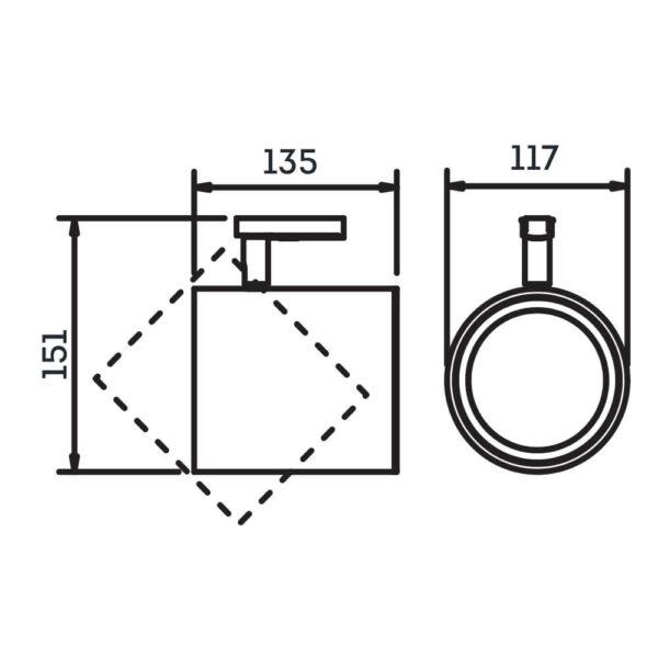 Desenho técnico Spot para trilho IN50965 Newline